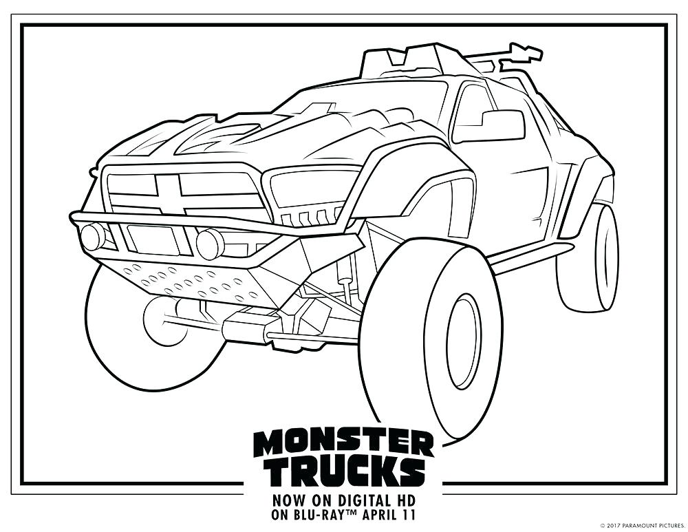 1000x773 Monster Trucks Coloring Pages Avenger Monster Truck Coloring Pages