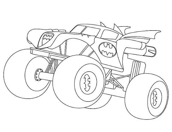 600x463 Monster Trucks Coloring Pages Best Batman Monster Truck Coloring