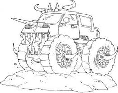 236x186 Batman Monster Truck Coloring Page Kids Play Color Coloring