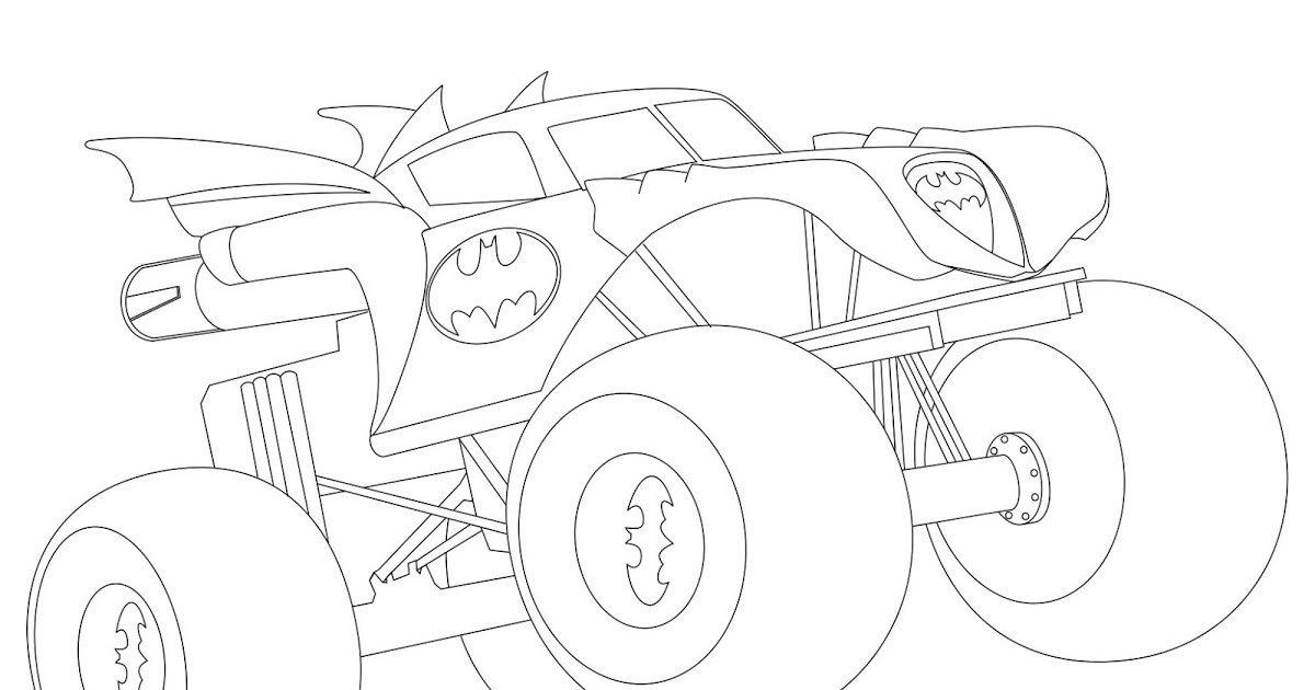 1200x630 Batman Monster Truck Coloring Page