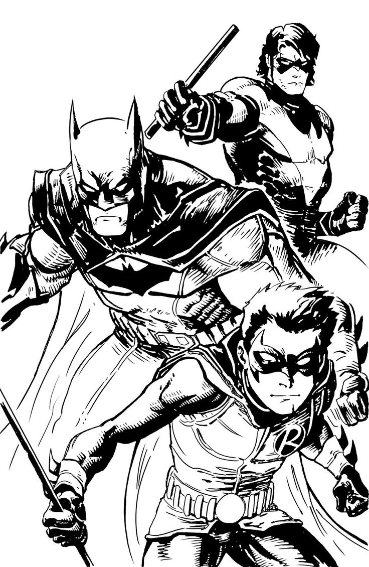 Batman Robin Coloring Pages