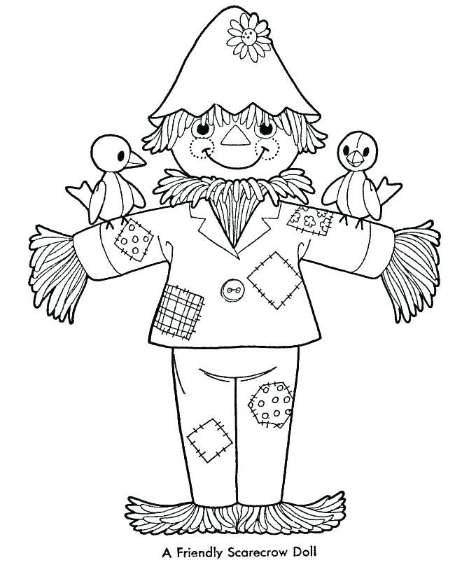 670x820 Scarecrow Coloring Page Jack O Lantern Scarecrow Scarecrow