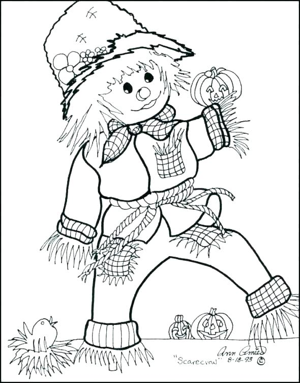 590x752 Scarecrow Coloring Pages Scarecrow Coloring Page Lego Scarecrow