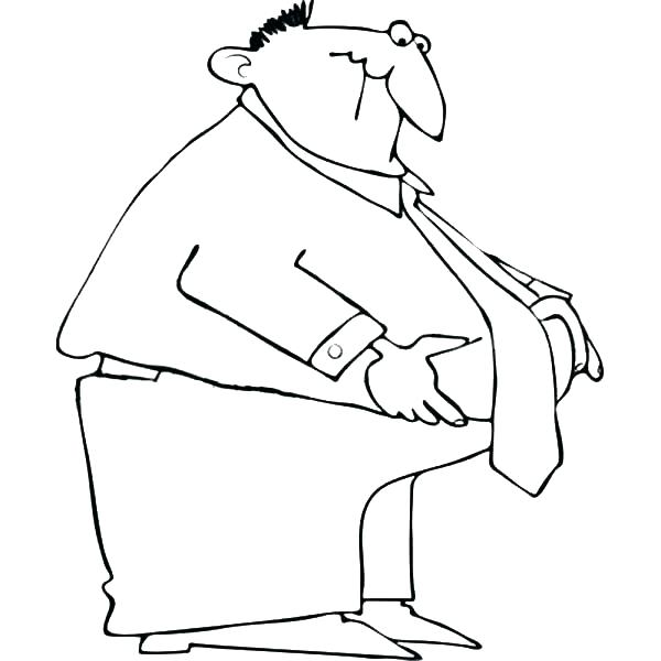 600x600 Batman Scarecrow Coloring Pages Guy Coloring Page Fat Business Man
