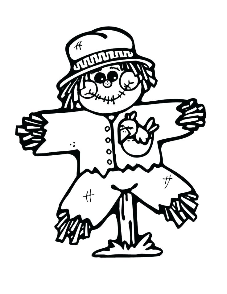 736x952 Scarecrow Coloring Pages Scarecrow Coloring Pages Dazzling