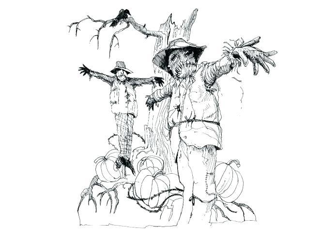 667x500 Batman Scarecrow Coloring Pages