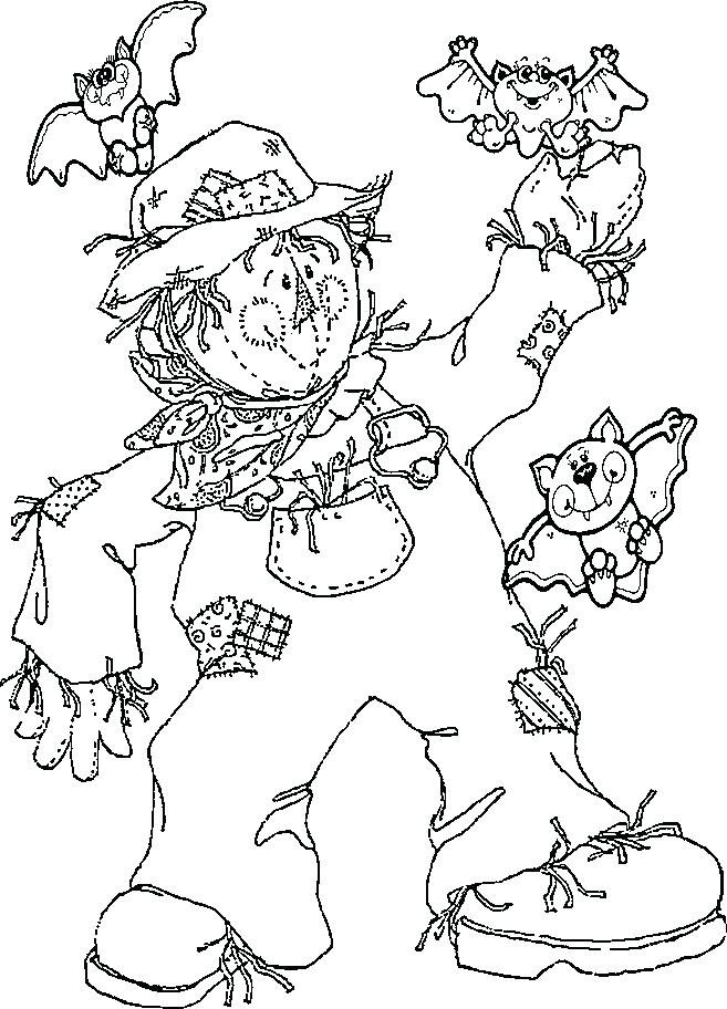 657x912 Scarecrow Coloring Page