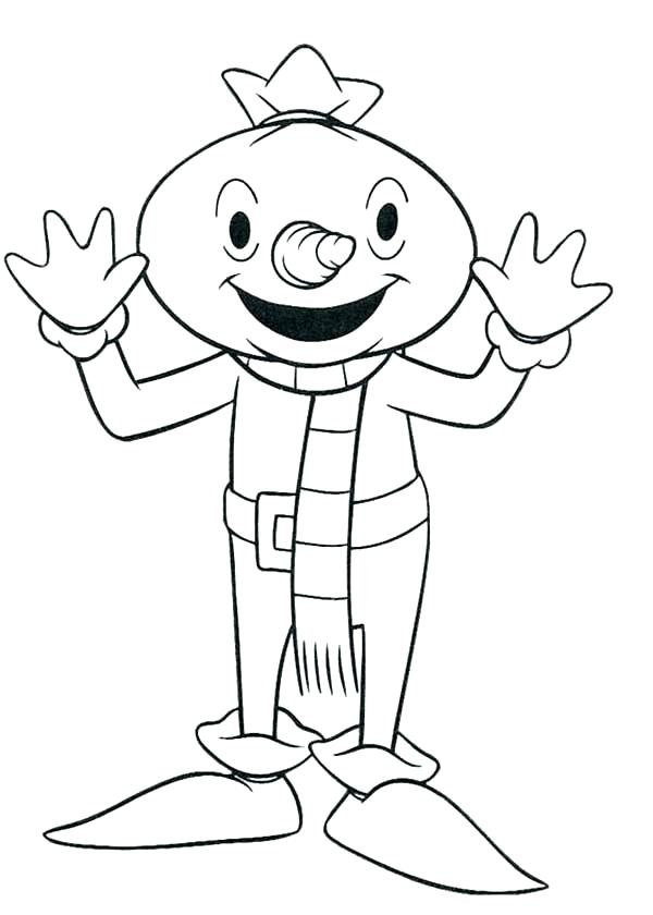 600x840 Scarecrow Coloring Pages