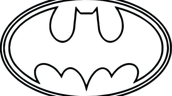 585x329 Batman Symbol Coloring Page Batman Symbol Coloring Page Batman
