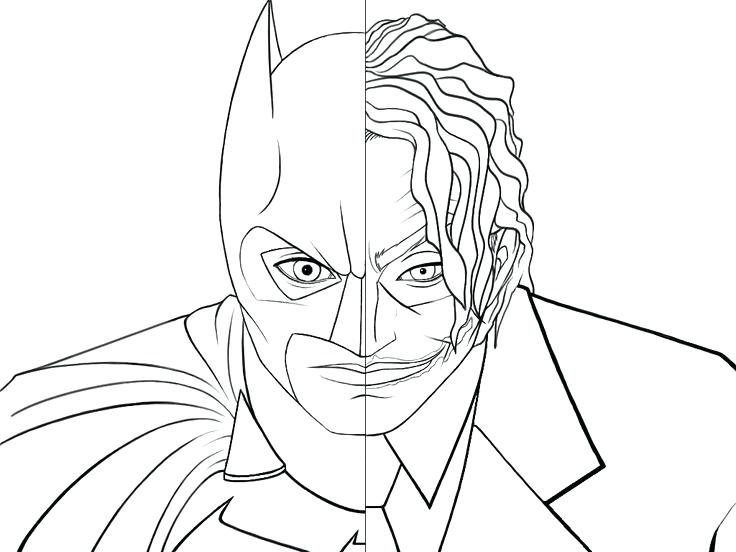 736x552 Batman And Joker Coloring Pages The Coloring Collection