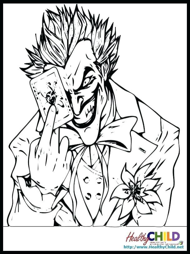609x813 Batman Joker Coloring Pages Awesome Joker Coloring Page Batman Vs
