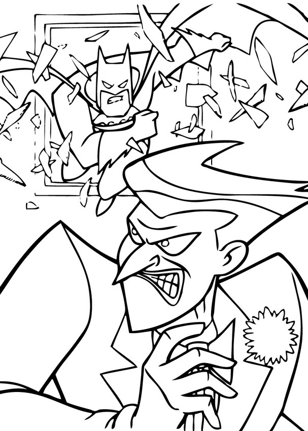 607x850 Batman And Joker Coloring Pages