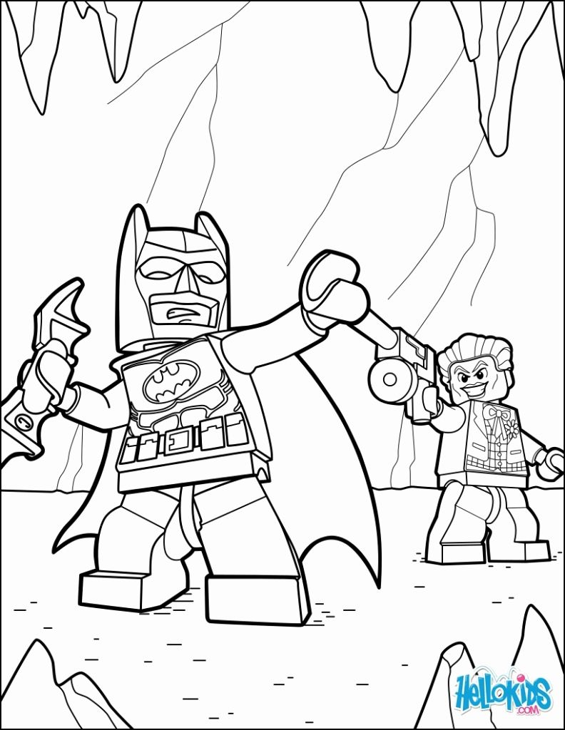 792x1024 Appealing Creative Lego Batman Coloring Pages Image For Color