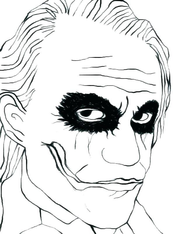 600x801 Batman And Joker Coloring Pages Dark Knight The Elegant