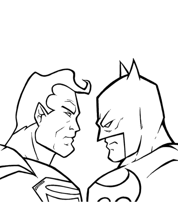 Batman Vs Superman Coloring Pages At Getdrawings Com Free For