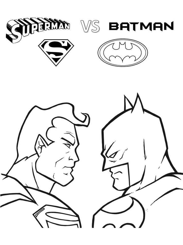 720x960 Batman Vs Superman Logo Coloring Pages
