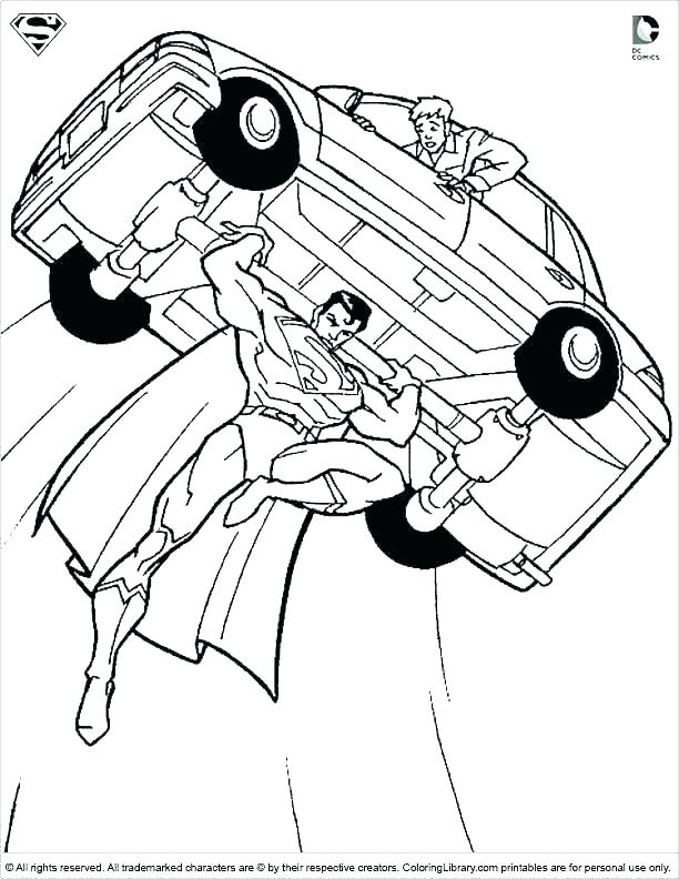 612x792 Coloring Page Superman Superman Coloring Pages To Print Coloring