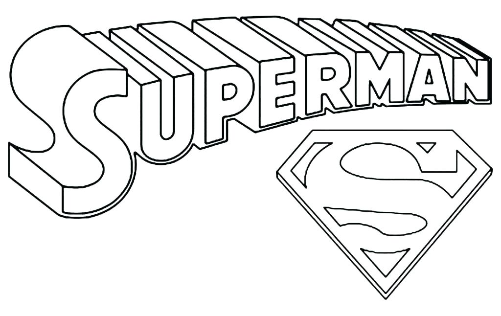 1024x646 Batman And Superman Coloring Pages Coloring Pages Superman Logo