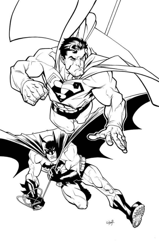 677x1024 Superman And Batman Coloring Pages