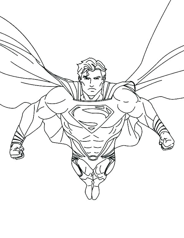 600x776 Superman Coloring Pages Print Batman And Superman Coloring Pages