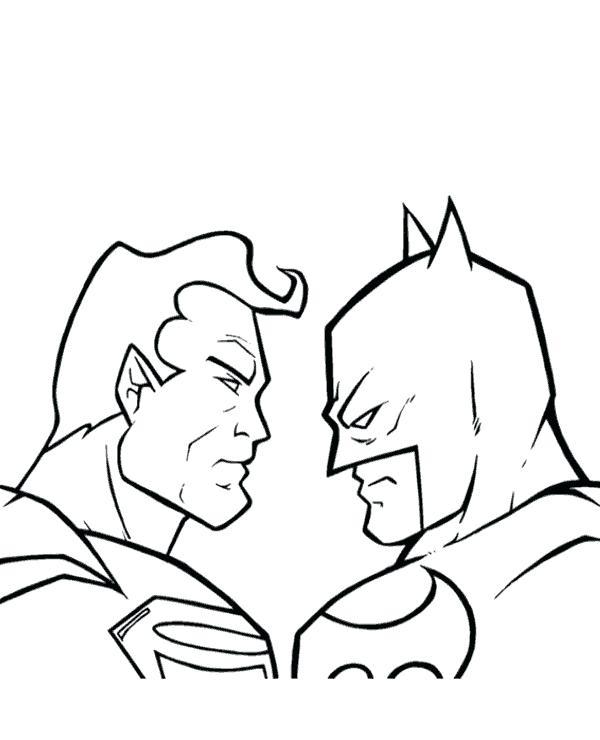 600x740 Batman Superman Coloring Pages Batman Superman Coloring Pages