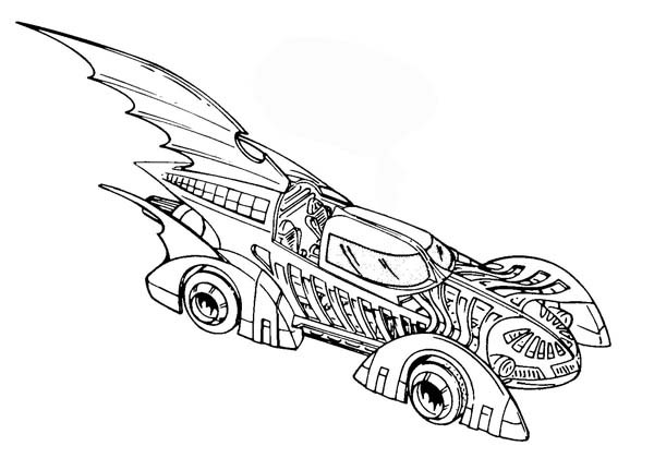 600x420 Batmobile Coloring Pages