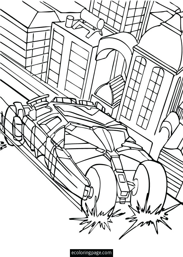 607x850 Batmobile Coloring Pages Car In The City Coloring Page Do You Like