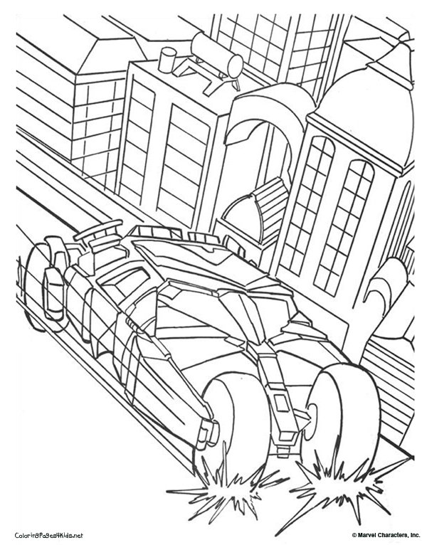 600x766 Batman Batmobile Coloring Pages