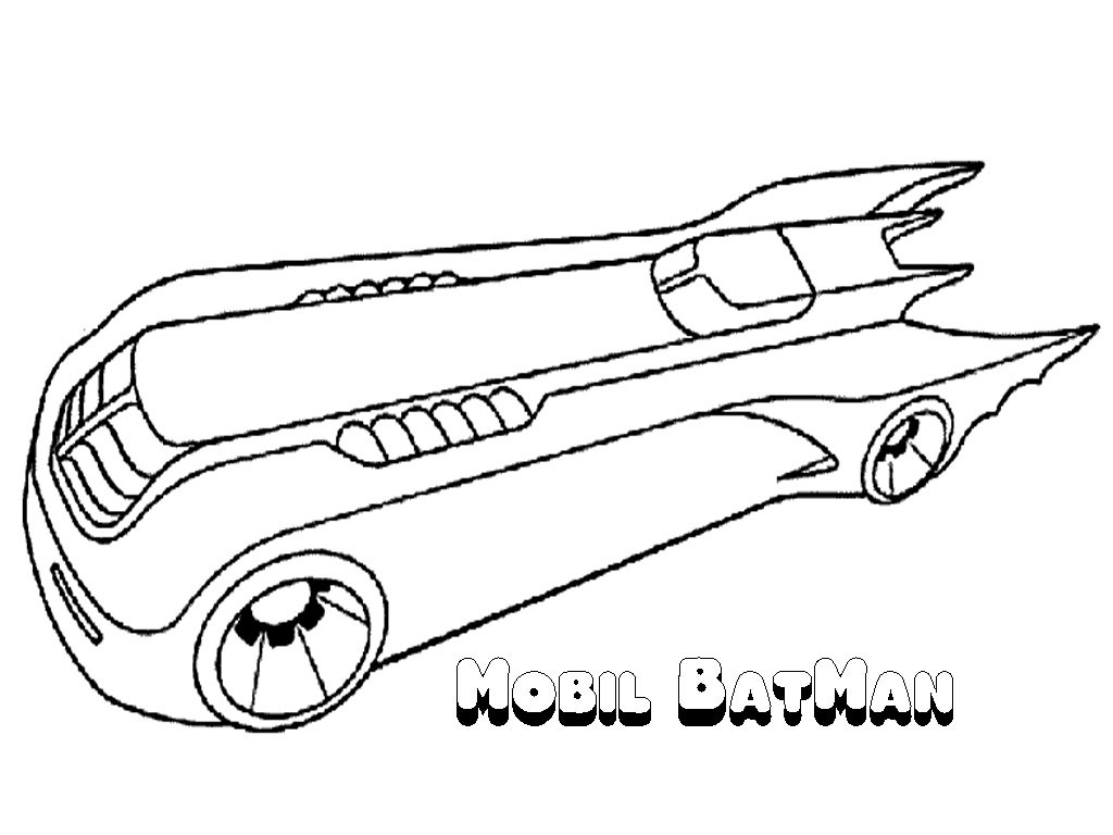 1024x768 Lovely Batmobile Coloring Pages