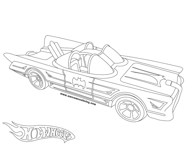 640x495 Wheels Batmobile Coloring Page
