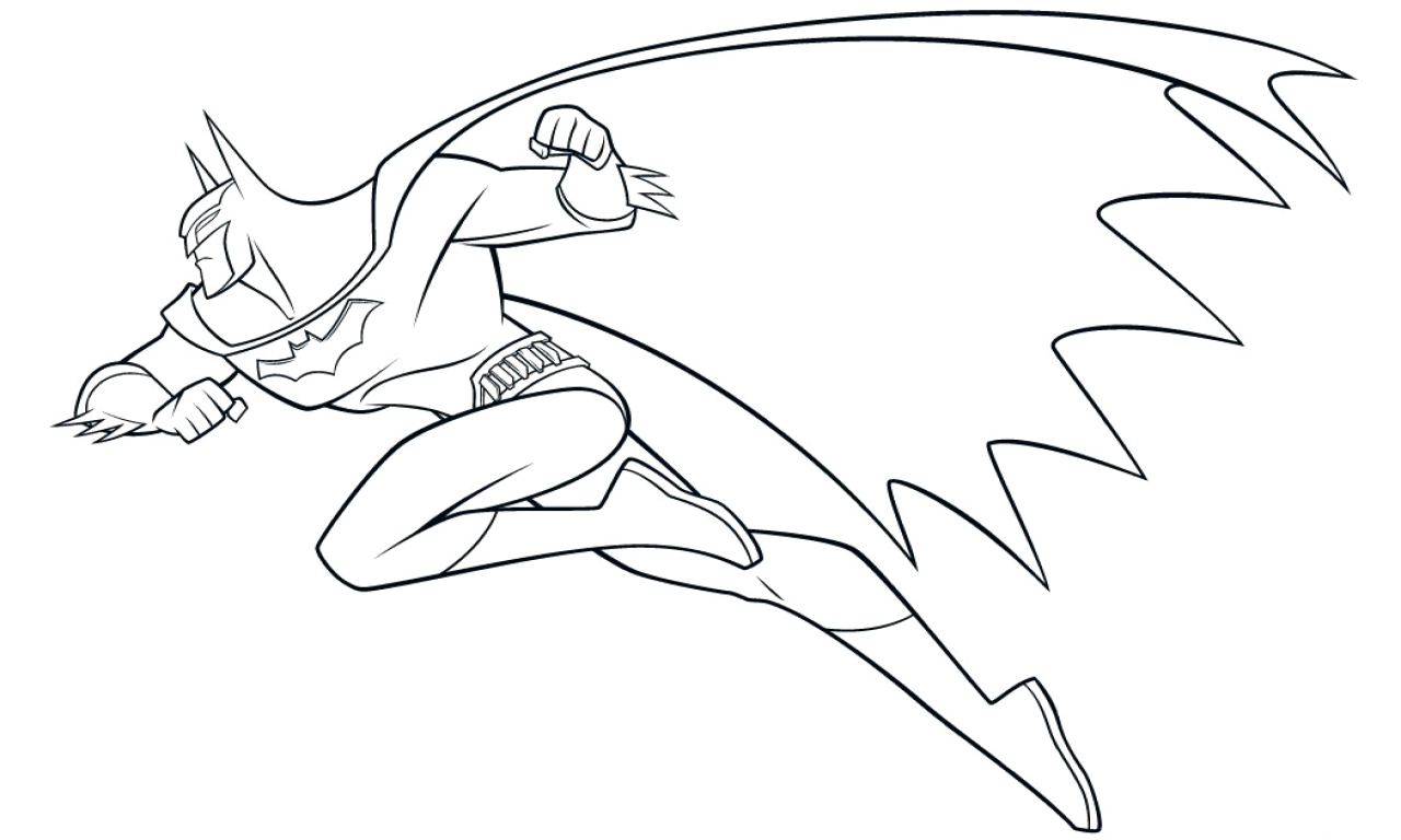 1280x768 Batman Cartoon Coloring Pages Batman Batmobile Coloring Pages