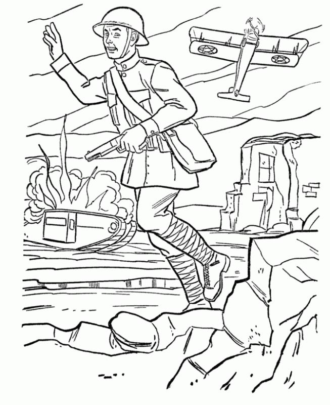 Battlefield Coloring Pages