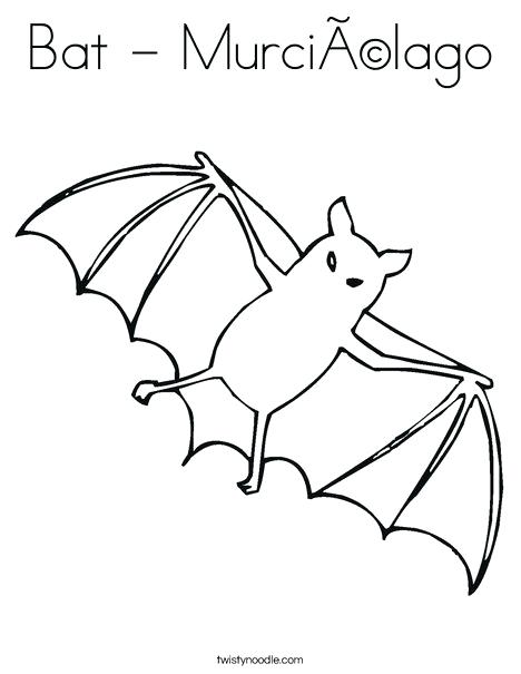 468x605 Battleship Coloring Sheets Bat Coloring Page Twisty Noodle Bat