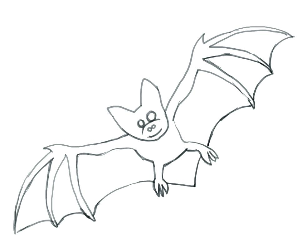 984x808 Coloring Pages Bats Printable Halloween Free Bat For Kids Batman