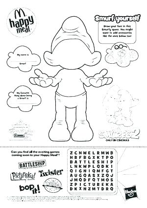 300x424 Smurfs Coloring Pages Printable Smurfs Coloring Book Smurfs