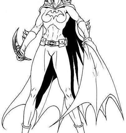 Batwoman Coloring Pages At Getdrawingscom Free For
