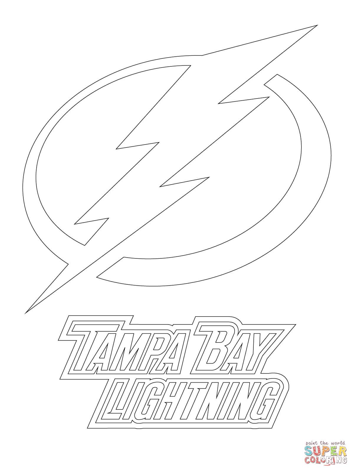 1200x1600 Inspiration Tampa Bay Lightning Logo Coloring Page
