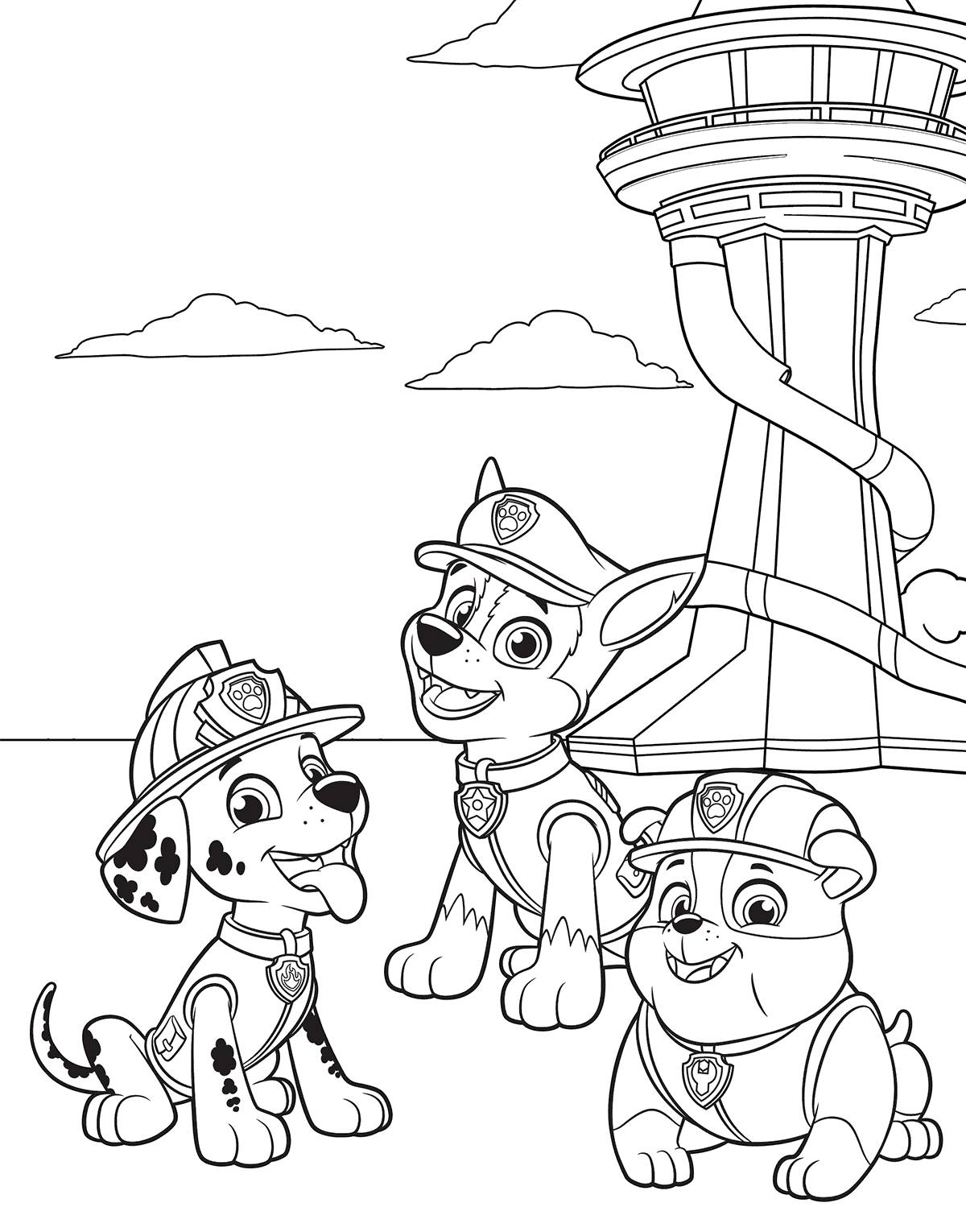 1200x1530 Paw Patrol In Adventure Bay Coloring Pages