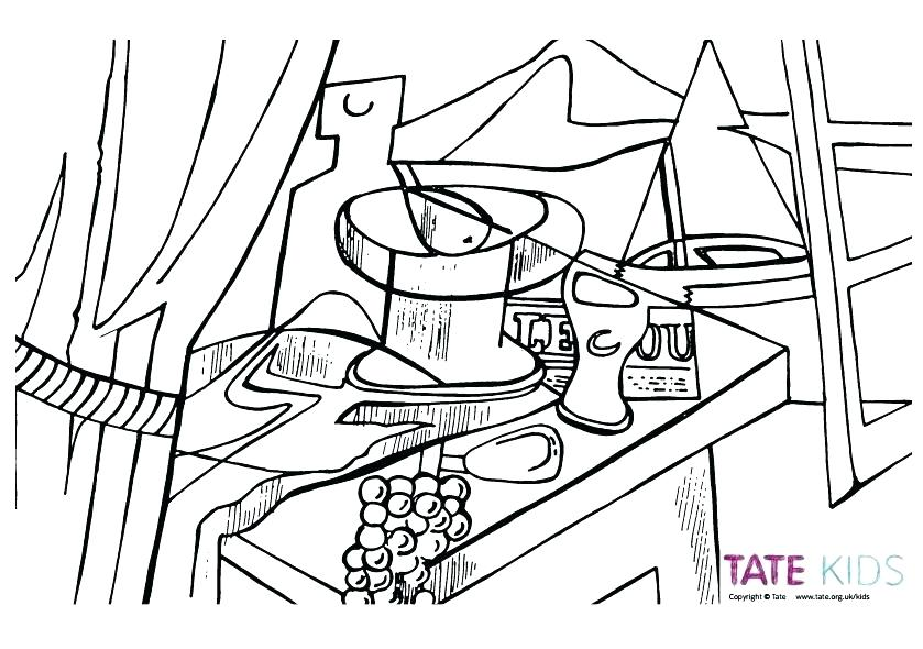 839x590 Artist Coloring Page Famous Artist Coloring Pages Overlooking