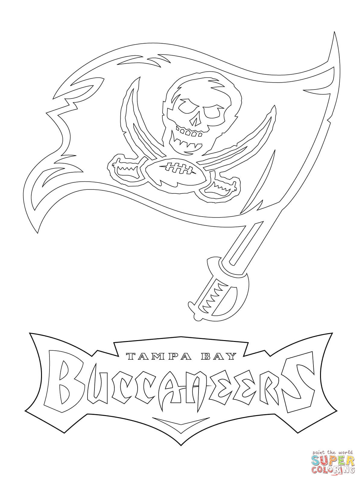 1200x1600 Tampa Bay Buccaneers Logo Coloring Page Rays Pages