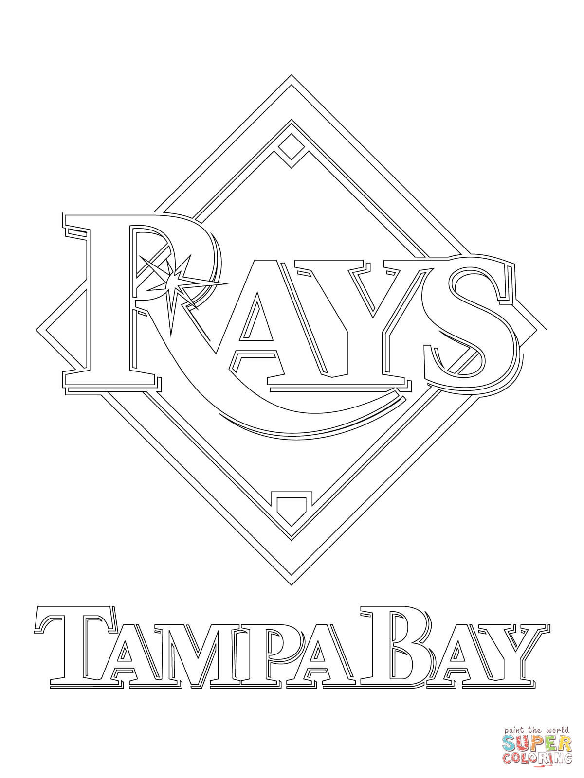 1200x1600 Tampa Bay Rays Logo Coloring Page Pages
