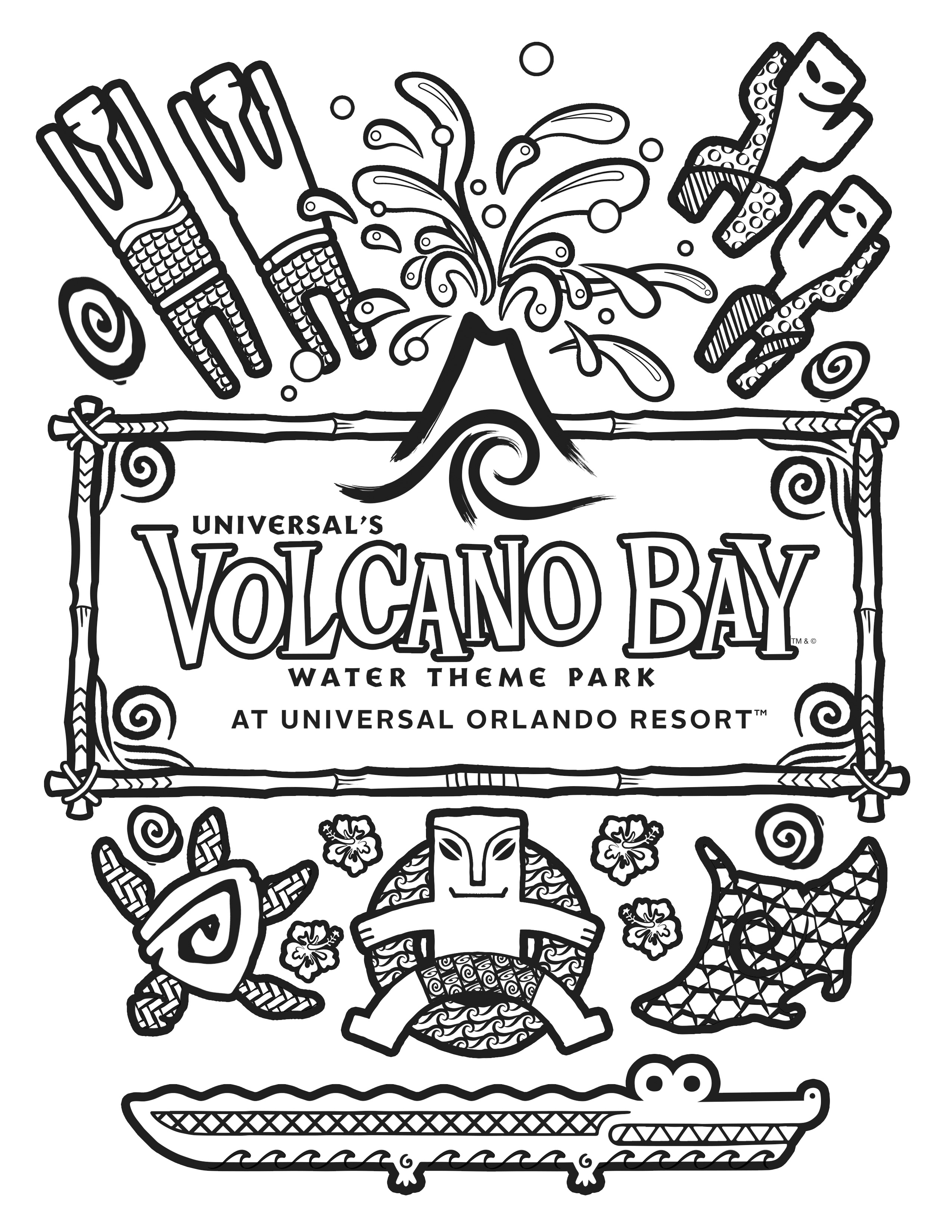 2550x3300 Universal Orlando Close Up Coloring Pages For Universal
