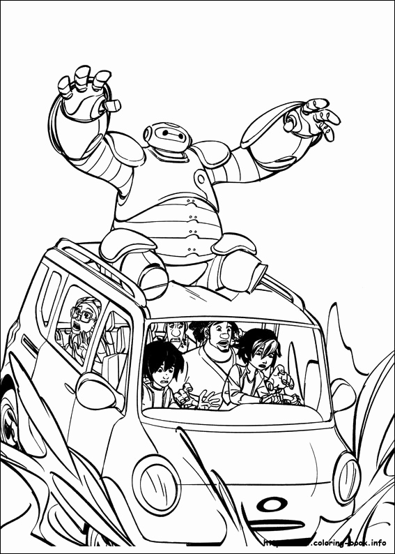Baymax Coloring Pages