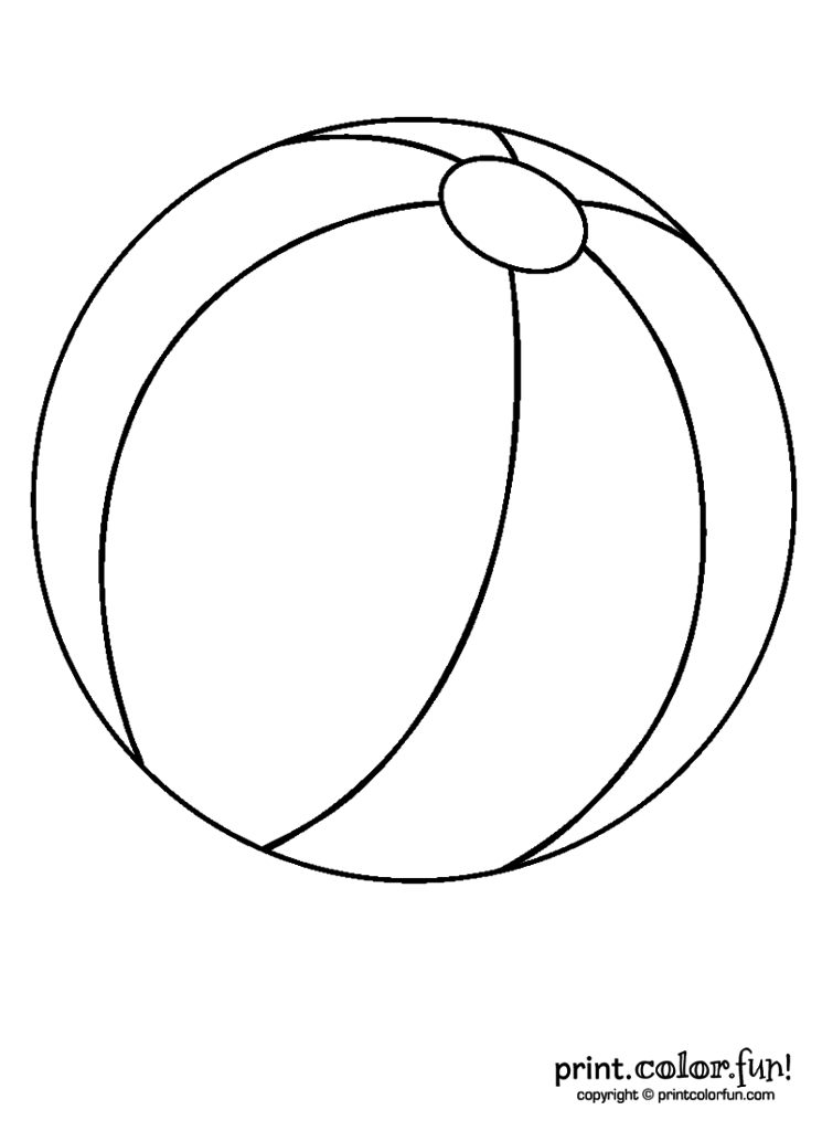 745x1024 Beach Ball Coloring Page