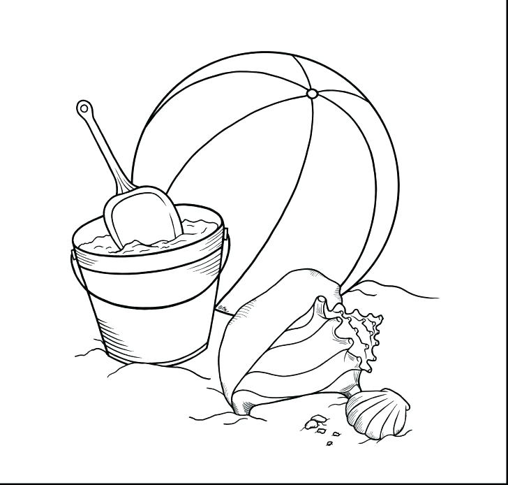 728x694 Beach Ball Coloring Page Beach Coloring Page Beach Coloring Sheet