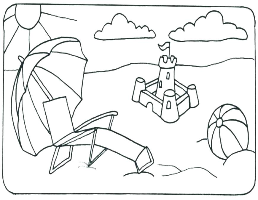 870x672 Beach Ball Coloring Page Coloring Pages Beach Beach Coloring Page