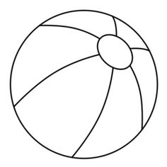 Beach Ball Coloring Page At Getdrawings Com Free For