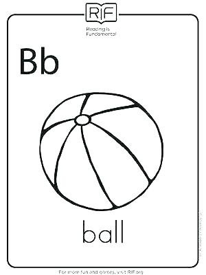 300x400 Cool Beach Ball Coloring Page Best Of B For Printable Alphabet