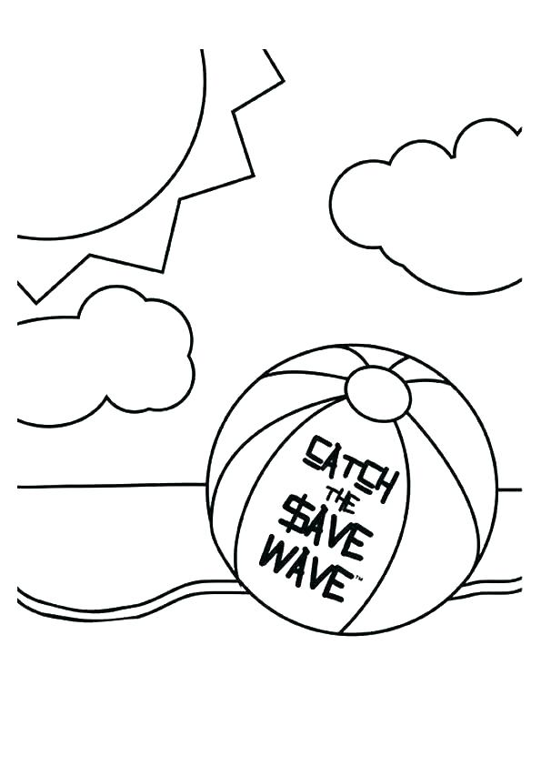 595x842 Island Coloring Pages Beach Ball Coloring Page Beach Ball Coloring