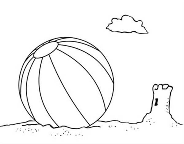 600x470 Lets Play With A Beach Ball Coloring Page